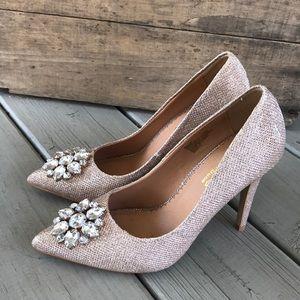Champagne Sparkle Formal Heels